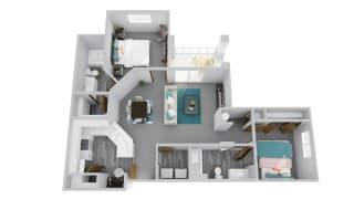 Zone Apartments Diamondback 3D Floor Plan