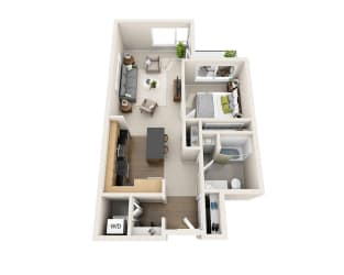 Waterscape at Juanita Village Apartments A1C Floor Plan