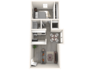 SITE Scottsdale Apartments A2 3D Floor Plan