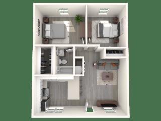 SITE Scottsdale Apartments B1 3D Floor Plan