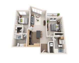 Waterscape at Juanita Village Apartments B2A Floor Plan