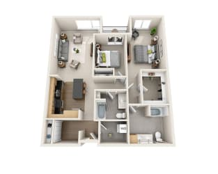 Waterscape at Juanita Village Apartments B2I Floor Plan