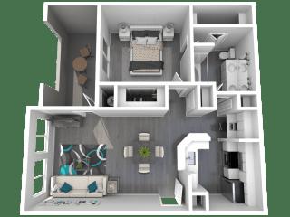 Lazo Apartments Basha Floor Plan