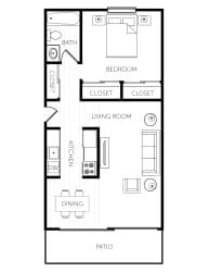 Floor Plan One Bedroom - Medium