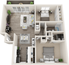 Hillside Gardens Apartments Hot Springs Floor Plan