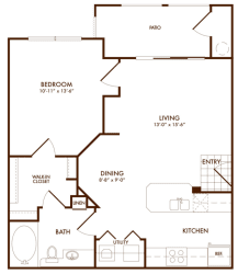 Hudson Miramont Apartments A1 Floor Plan