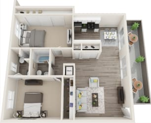 Hillside Gardens Apartments Floor Plan