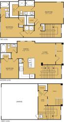 3 Bedroom 3 Bathroom Floor plan at The Kelley, Texas