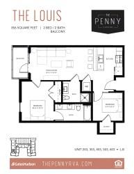 Floor Plan The Louis (L-B)