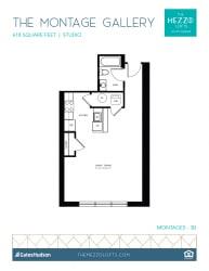 Floor Plan Montage Gallery - Studios