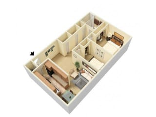 Floor Plan 2 Bed Large