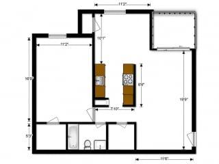 Oakton Park Apartments One Bedroom Floor Plan A