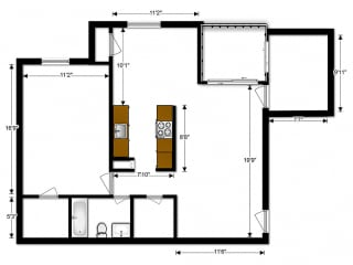 Oakton Park Apartments One Bedroom Floor Plan C