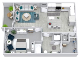 A1 Floor Plan at Estero Parc, Estero, Florida