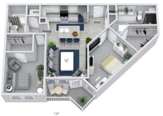 B2 Floor Plan at Estero Parc, Florida, 33928