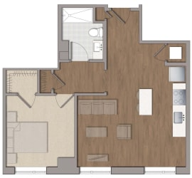 A4 Floor Plan at The George, Wheaton, 20902
