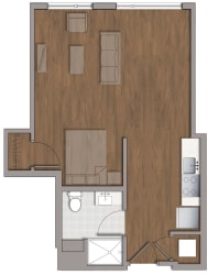 S3 Classic Floor Plan at The George, Wheaton