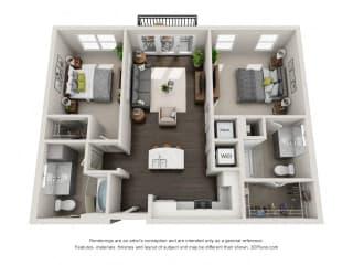 B1 Floor Plan at Marq on Main, Lisle, 60532