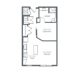 A1 Floor Plan at Union Berkley, Missouri