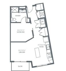 A3 Floor Plan at Union Berkley, Kansas City, 64120