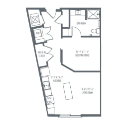 A4 | A5 Floor Plan at Union Berkley, Kansas City, MO