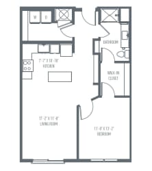 B1 Floor Plan at Union Berkley, Missouri, 64120