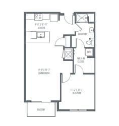 B1b Floor Plan at Union Berkley, Kansas City, 64120