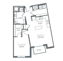 B5 Floor Plan at Union Berkley, Kansas City, MO, 64120