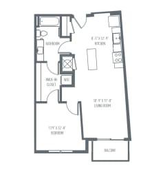 B6   B7 Floor Plan at Union Berkley, Kansas City, 64120