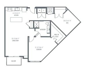 C1 Floor Plan at Union Berkley, Kansas City