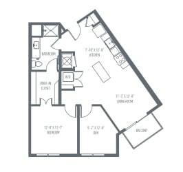 C5 Floor Plan at Union Berkley, Kansas City, Missouri