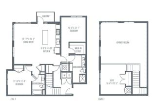 P1 Floor Plan at Union Berkley, Missouri, 64120