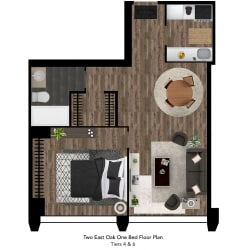 Two East Oak Floor Plan Tier 4-6