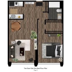 Two East Oak Floor Plan Tier 7
