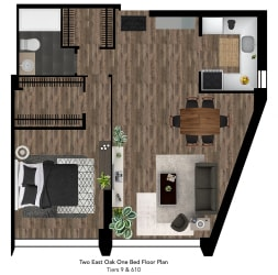 Two East Oak Floor Plan Tier 9-10