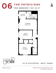 Group Fox - The Patricians - Two Bedroom Floor plan