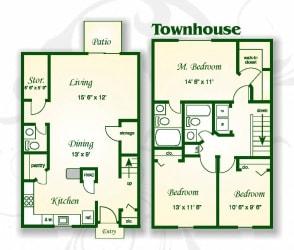 Floor Plan The Palmetto Townhouse