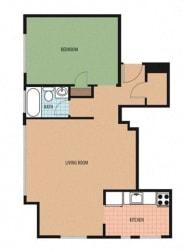 Kenyon Floor Plan at Sarbin Towers, Washington
