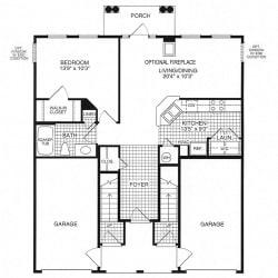 Floor plan at Woodland Park, Herndon, VA, 20171