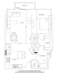 A11 Floorplan at Glass House by Windsor