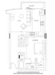 A4 Floorplan at Glass House by Windsor