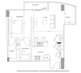 A5 Floorplan at Glass House by Windsor