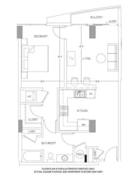 A7 Floorplan at Glass House by Windsor