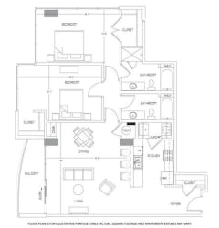 B11 Floorplan at Glass House by Windsor