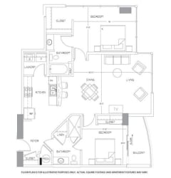 B6 Floorplan at Glass House by Windsor