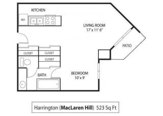 MacLaren Hill Apartments in St. Paul, MN Studio Apartment