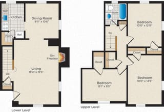 Floor Plan T03 Townhouse - South