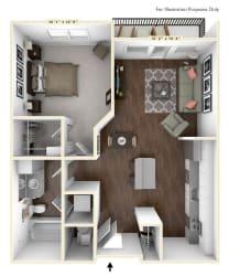 S2 - Studio Floor Plan at Avant Apartments, Carmel, IN, 46032