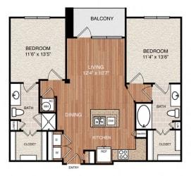 D1 Floor Plan at Berkshire Medical District, Texas
