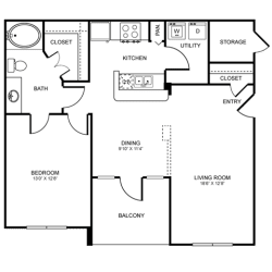 A5 Floor Plan at Stoneleigh on Spring Creek, Garland, TX, 75044